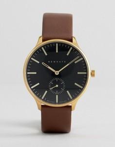 Часы с кожаным коричневым ремешком Newgate - Коричневый