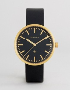 Черные часы с кожаным ремешком Newgate Drummer - Черный