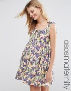 Платье для беременных с цветочным принтом ASOS Maternity - Мульти