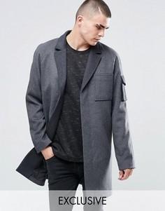Шерстяное пальто Underated - Серый