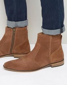 Светло-коричневые замшевые ботинки в стиле вестерн KG By Kurt Geiger - Рыжий