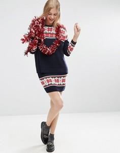 Вязаная юбка с рождественским узором Фэйр‑Айл ASOS Co Ord - Мульти