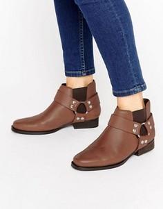 Кожаные ботинки челси в стиле вестерн ASOS ALTICO - Коричневый