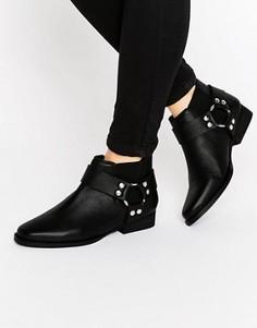 Кожаные ботинки челси в стиле вестерн ASOS ALTICO - Черный