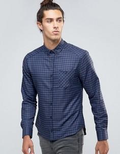 Рубашка в клетку Threadbare Chive - Темно-синий