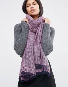 Легкий oversize‑шарф с шевронным узором ASOS - Розовый