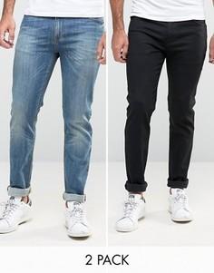 2 джинсов скинни (черные/синие выбеленные) ASOS - СО СКИДКОЙ - Мульти