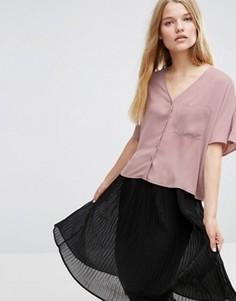 Укороченная блузка с V‑образным вырезом ASOS - Фиолетовый
