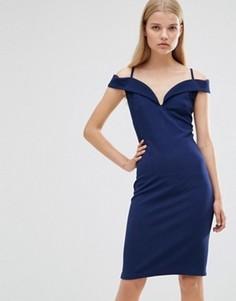 Платье с открытыми плечами Madam Rage - Темно-синий