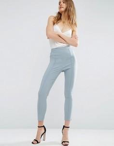 Укороченные зауженные брюки с завышенной талией ASOS - Серый