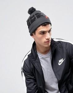 Серая шапка-бини Nike Futura DNA 809274-032 - Серый