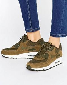Кроссовки цвета хаки Nike Air Max 90 Premium - Зеленый