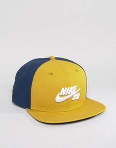 Желтая бейсболка Nike SB Icon Pro 628683-353 - Желтый