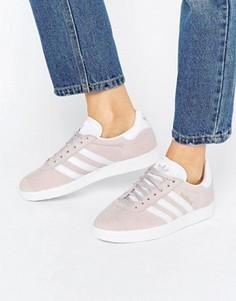 Бледно-фиолетовые замшевые кроссовки унисекс adidas Originals Gazelle - Фиолетовый