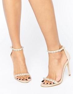 Кожаные сандалии на каблуке с отделкой ALDO McKinnons - Белый