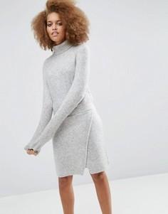 Трикотажное платье для дома с эластичным поясом ASOS - Серый