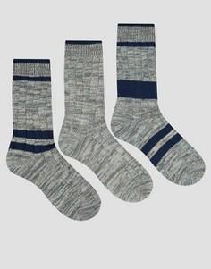 3 пары толстых носков в полоску ASOS - Мульти