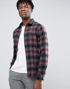 Клетчатая куртка-рубашка на молнии Selected Homme Plus - Серый