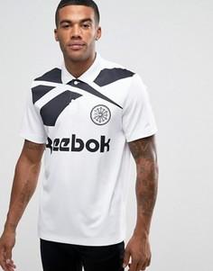 Белая футболка-поло в стиле ретро Reebok Vector AZ9549 - Белый