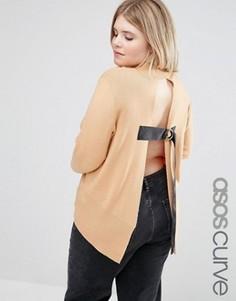 Джемпер с открытой спиной ASOS CURVE - Оранжевый