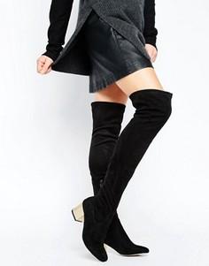 Ботфорты с декоративной отделкой на каблуке ASOS KAILIS - Черный