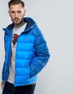 2-цветная стеганая куртка с капюшоном Columbia Quantum Voyage Powerdown - Темно-синий