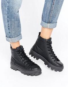 Ботинки на шнуровке ASOS ABBITH - Черный