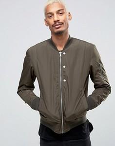 Стеганая нейлоновая куртка-пилот цвета хаки Esprit - Зеленый