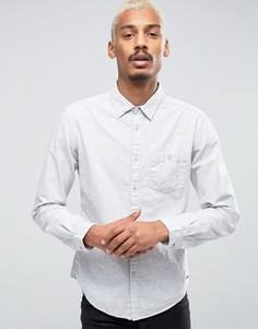 Рубашка с карманом и сплошным принтом Esprit - Серый