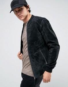 Замшевая черная куртка-пилот Esprit - Черный