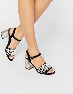 Туфли на каблуке с отделкой жемчугом ASOS HOUNSLOW - Черный