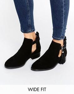 Ботинки из искусственной замши с бахромой ASOS AUDRINA - Черный