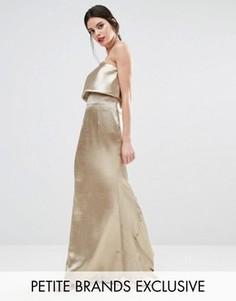 Платье макси с накладкой Jarlo Petite Blaze - Серебряный