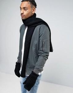 Черный шарф и перчатки adidas Originals AY9041 - Черный