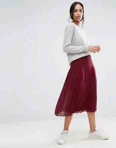 Плиссированная юбка миди ASOS - Красный