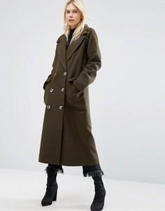 Oversize-пальто ASOS - Зеленый