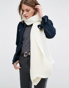 Продолговатый шарф в рубчик ALDO - Кремовый