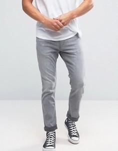 Серые эластичные джинсы скинни Hollister - Серый