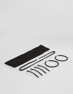 Набор аксессуаров для волос с повязкой и заколками ASOS - Черный