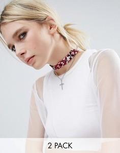 Ожерелье-чокер ASOS - Красный