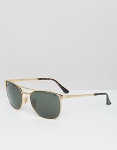 Солнцезащитные очки‑клабмастеры Ray-Ban 0RB3429M - Золотой