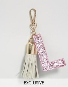 Брелок для ключей с буквой L Skinnydip - Мульти
