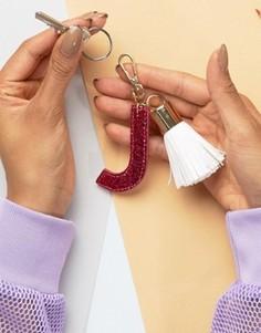 Брелок для ключей с буквой J Skinnydip - Мульти