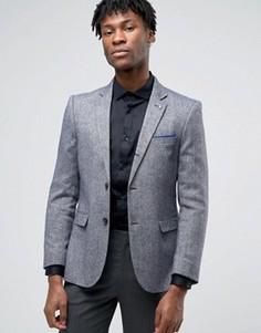 Сине-белый фактурный пиджак Original Penguin - Темно-синий