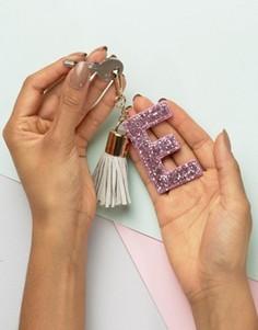 Брелок для ключей с буквой E Skinnydip - Мульти