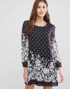Платье-туника в горошек Yumi - Черный