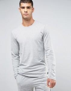 Хлопковый лонгслив для дома Calvin Klein One - Серый