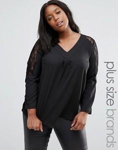Рубашка с кружевными вставками Praslin Plus - Черный
