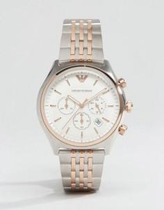 Наручные часы с хронографом Emporio Armani AR1998 - Серебряный