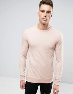 Светло-розовый легкий облегающий свитшот ASOS - Розовый